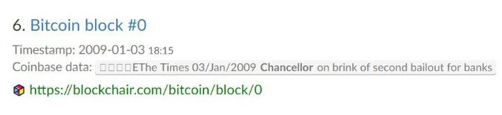 比特币区块链上隐藏着许多值得纪念的信息
