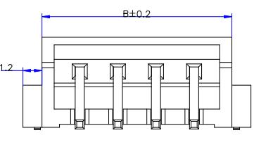 XH2.5卧贴式连接器规格原理图免费下载