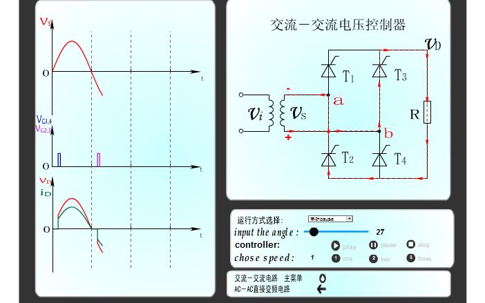 交流-交流电压控制器的电路运行和仿真可控制视频