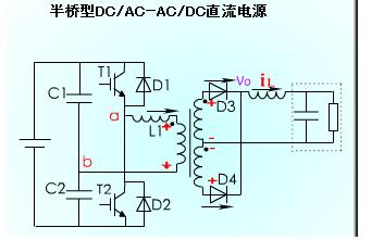 半桥型DC-AC和AC-DC直流电源电路的运行和仿真资料免费下载