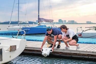 约肯机器人CES发新品 智能水下无人机BWSpace已经实现量产