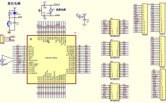 MSP430F149实验板电路原理图免费下载