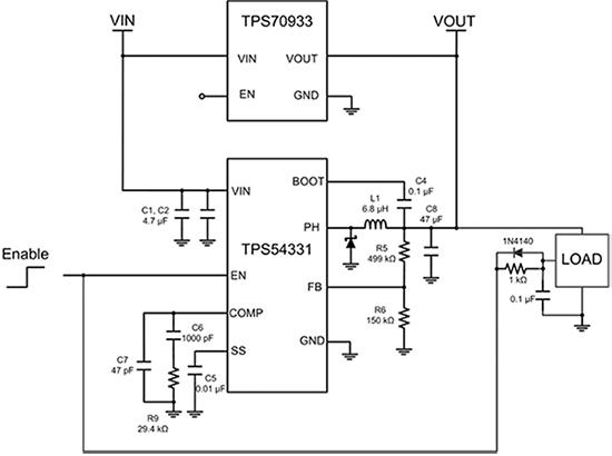 如何使用低压差稳压器提高降压转换器的轻载效率