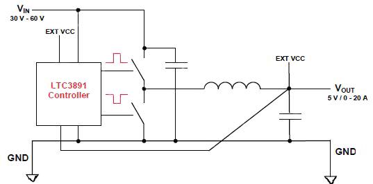 采用eGaN FET的非隔离降压DC/DC转换器设计