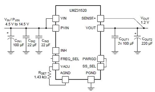 产生高输出电流时输出低电压的降压DC/DC转换器模块介绍