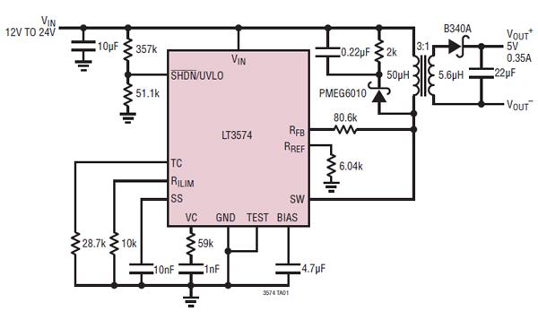 利用无光反激转换器芯片简化隔离式DC/DC转换器的设计