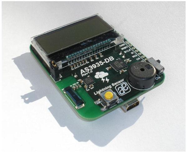 采用闪电传感器AS3935探测风暴距离