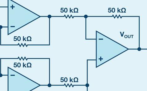 用仪表放大器如何测量两个光源之间差异?