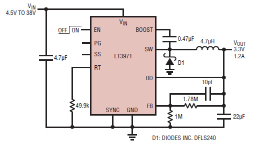 采用低静态电流降压转换器延长和节省电池寿命