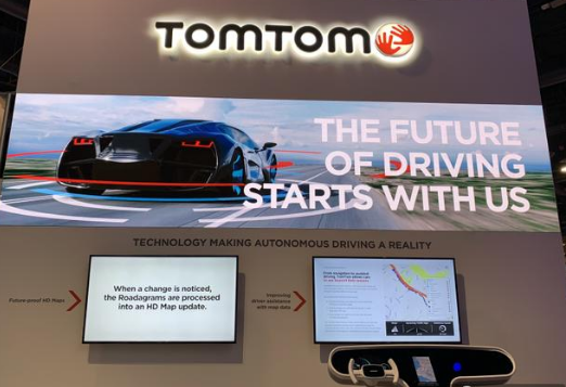 TOMTOM在CES2019上使用VR展示了导航所带来的效果
