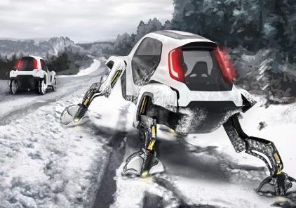 现代汽车发布新研发的概念电动汽车 可在马路上行驶行走及攀爬