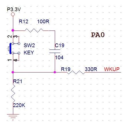 STM32單片機按鍵電路設計