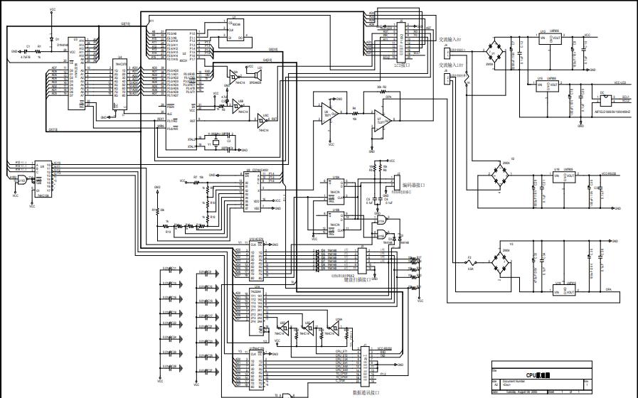 程控稳压电源CPU控制板电路原理图免费下载
