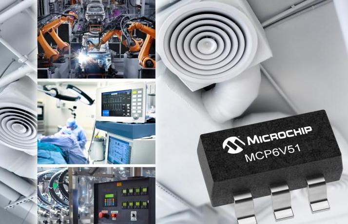 微芯科技推出MCP6V51零漂移运算放大器 能最大程度降低高频干扰影响