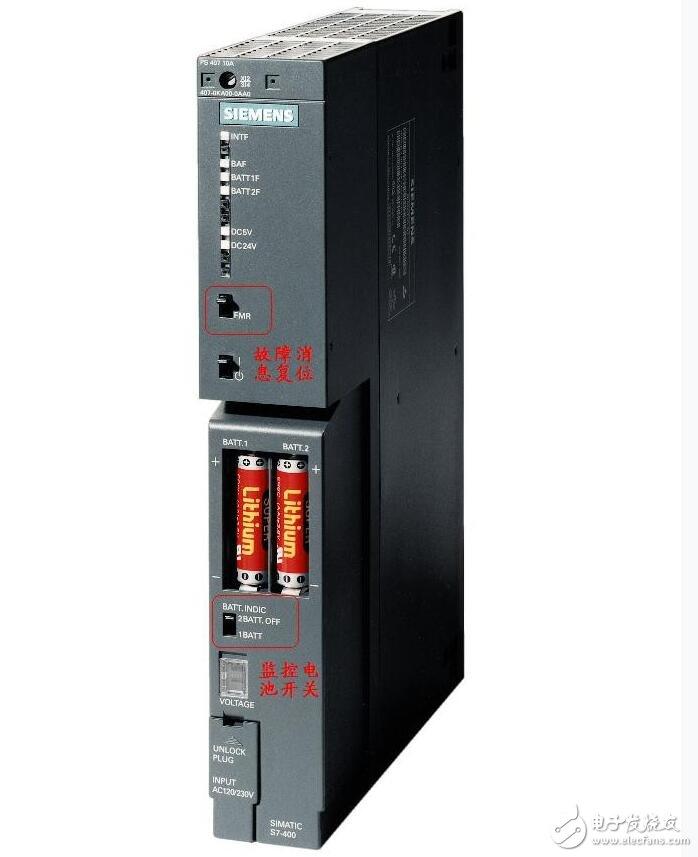 S7-400PLC的电源电池相关介绍