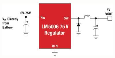 使用高压输入稳压器简化工业控制系统的开发
