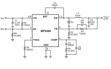 MP4560高频降压开关稳压器的数据手册免费下载