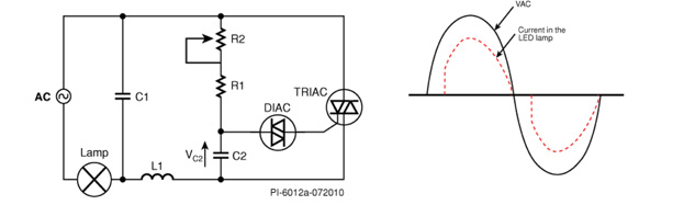 基于TRIAC的调光器改善LED照明闪烁问题