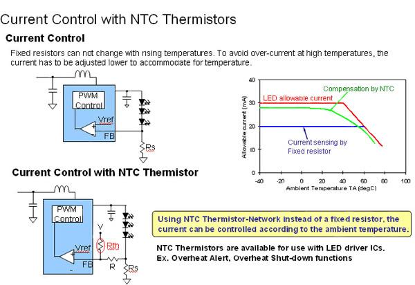 NTC热敏电阻在LED照明系统中应用分析