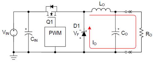 在轻载情况下非同步降压转换器的效率性能分析与比较