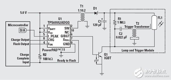数码相机高效闪光灯的驱动保护电路设计