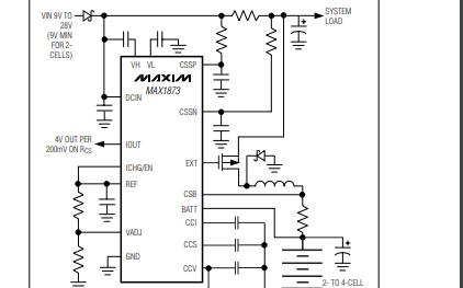 MAX1873X系列锂离子电池充电器控制芯片资料免费下载