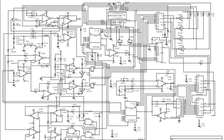 电流电压反馈控制主控板电路原理图免费下载