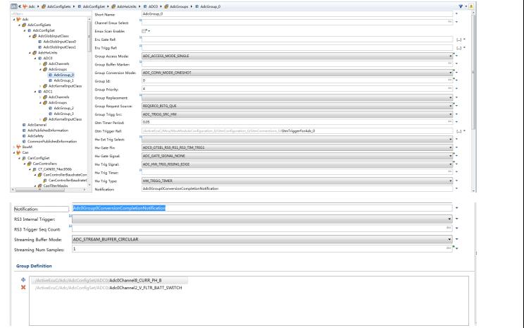 英飞凌MCAL和VADC模块配置资料说明