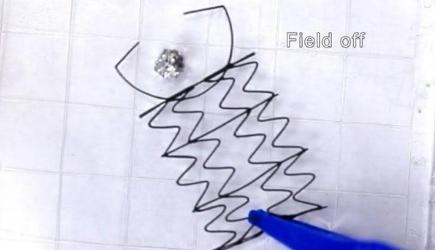 "3D打印磁性网格""机器人"" 可以拉伸和压缩以抓取和移动小物体"