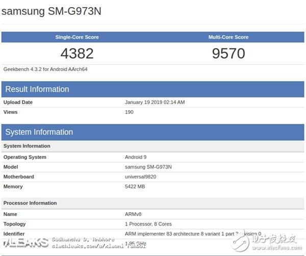 三星Exynos9820跑分曝光 比骁龙855移动平台单核成绩略高多核成绩略低
