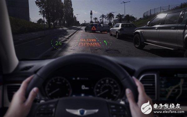 全球首款全息AR导航系统搭载在现代捷恩斯车型上