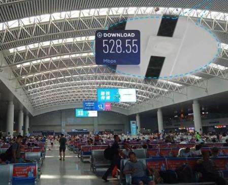 中国联通联合华为在江西南昌火车站开通省内首个5G数字化室分网络