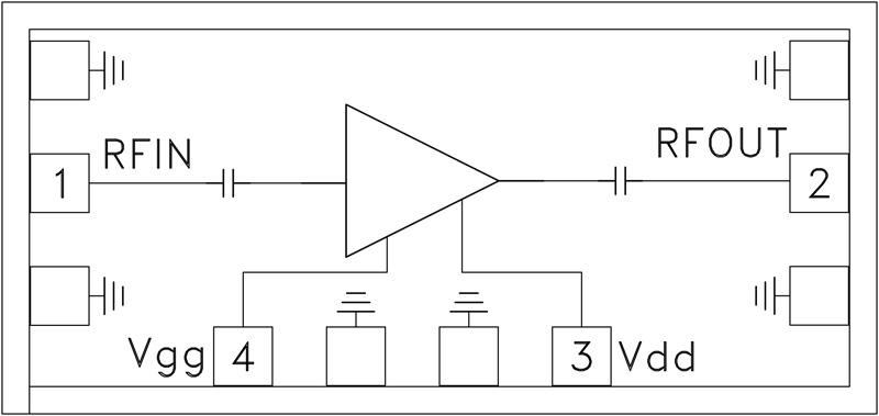 HMC-ALH382 低噪声放大器芯片,57 - 65 GHz