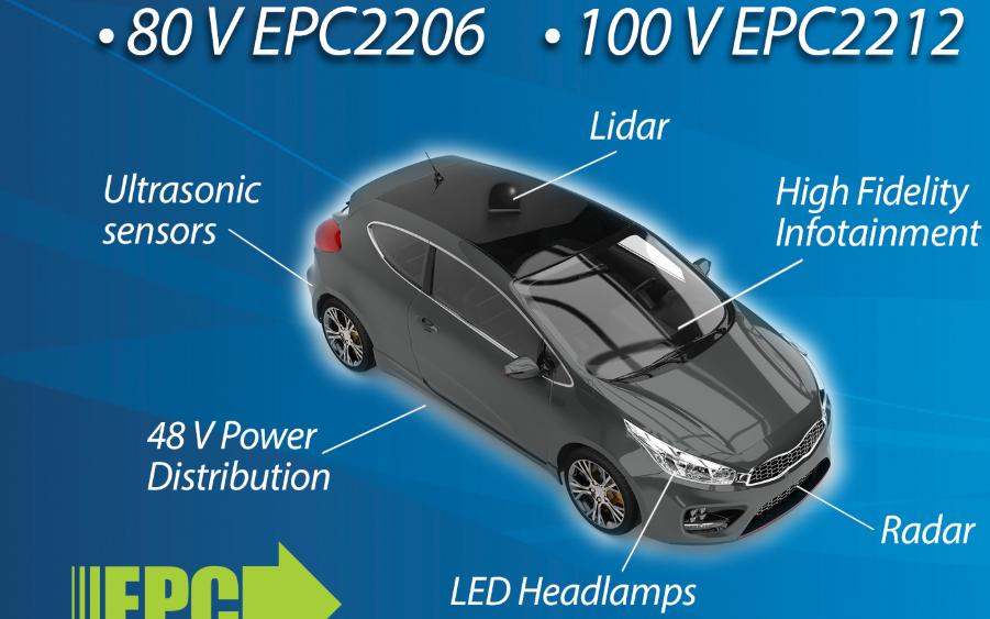 車規級eGaN?FET使得激光雷達系統看到更清晰、更高效、成本更低、更可靠