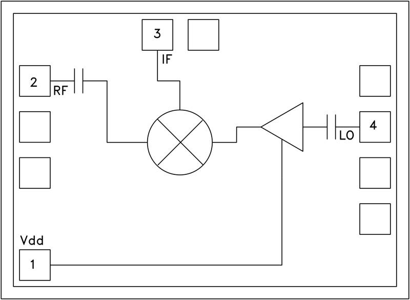 HMC337 GaAs MMIC次諧波混頻器芯片,17 - 25 GHz