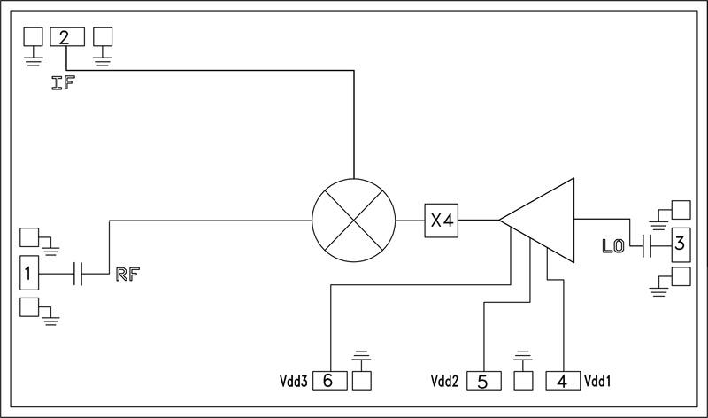 HMC1093 GaAs MMIC次諧波混頻器,37 - 46.5 GHz