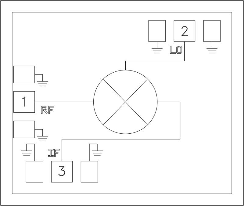 HMC1058 71 - 86 GHz次諧波混頻器