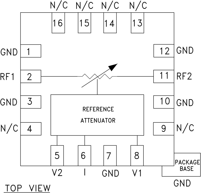 HMC346ALP3E GaAs MMIC电压可变衰减器,DC - 14 GHz