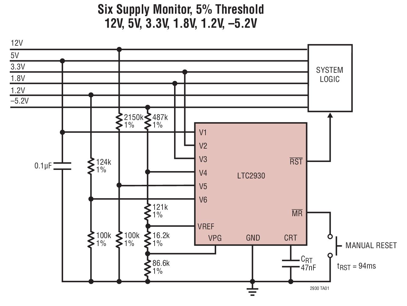 LTC2930 具可調復位定時器、手動復位功能的...