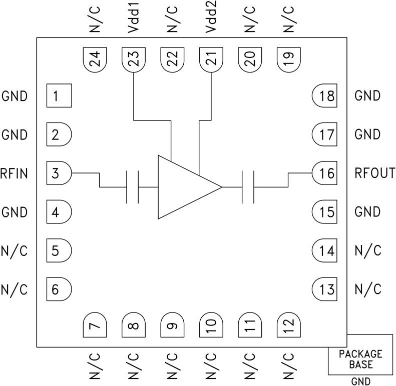 HMC962 低噪声放大器,采用SMT封装,7.5 - 26.5 GHz