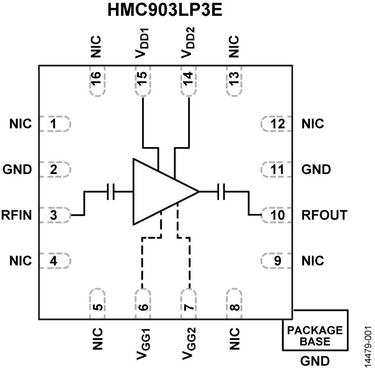 HMC903LP3E 低噪声放大器,采用SMT封装,6 - 17 GHz