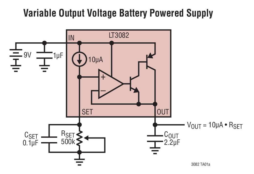 LT3082 200mA 单电阻器低压差线性稳压器