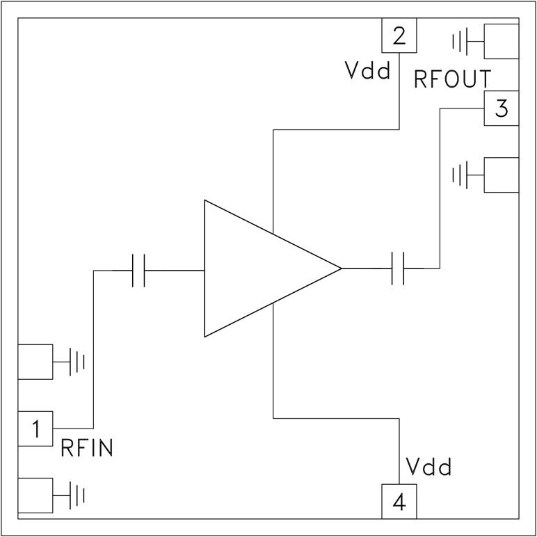 HMC-ALH445 低噪声放大器芯片,18 - 40 GHz
