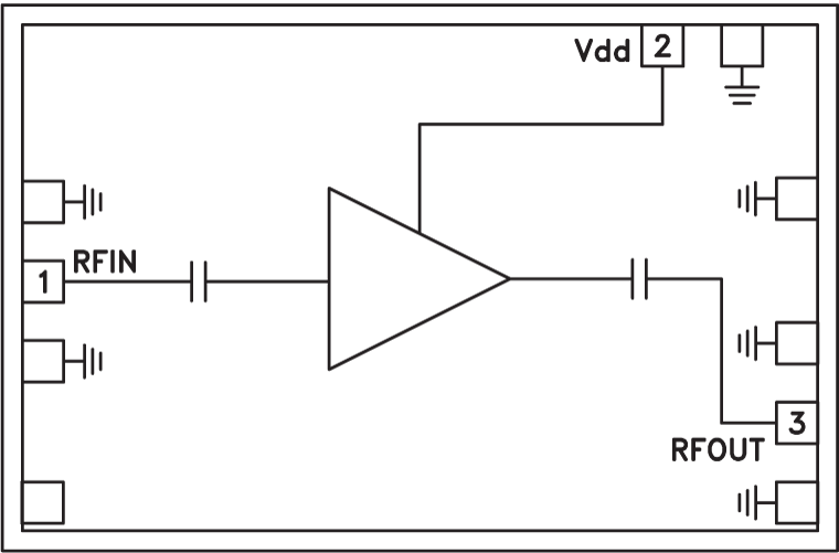 HMC-ALH369 低噪声放大器芯片,24 - 40 GHz