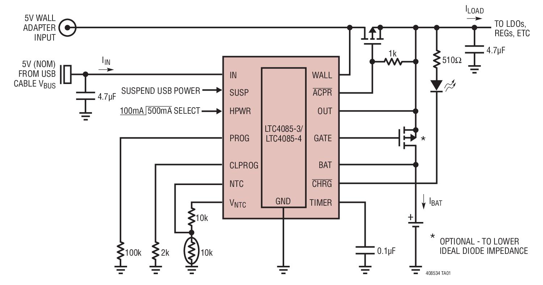 LTC4085-3 具理想二极管控制器和 3.9...