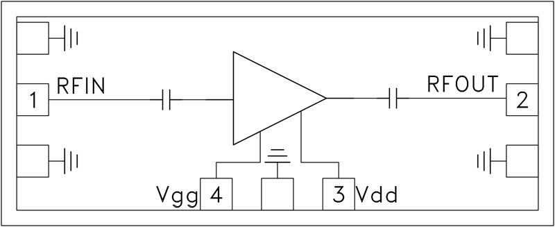 HMC-ALH310 低噪声放大器芯片,37 - 42 GHz