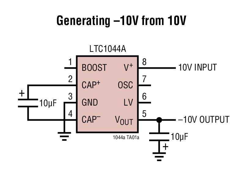 LTC1044A 12V CMOS 电压转换器