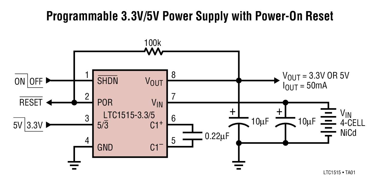 LTC1515 具复位功能的升压 / 降压型开关...