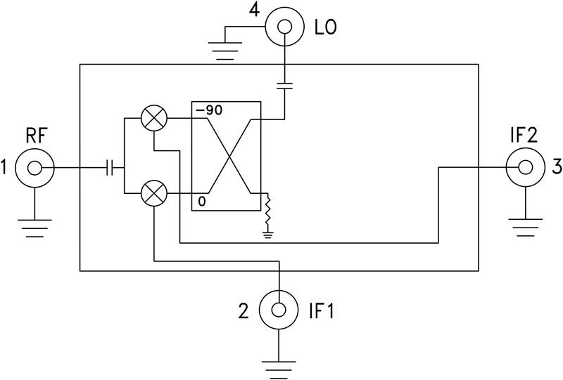 HMC-C009 I/Q混频器模块,4 - 8.5 GHz