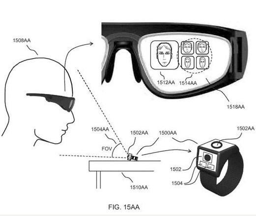 微软推出了一种墨镜大小的一体式AR眼镜的新AR专利